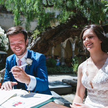 Location for wedding in Sorrento: the Saint Francis Cloister